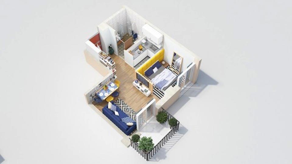 goi y mau thiet ke chung cu 1 phong ngu gia re 2046 19 - Gợi ý mẫu thiết kế chung cư 1 phòng ngủ giá rẻ