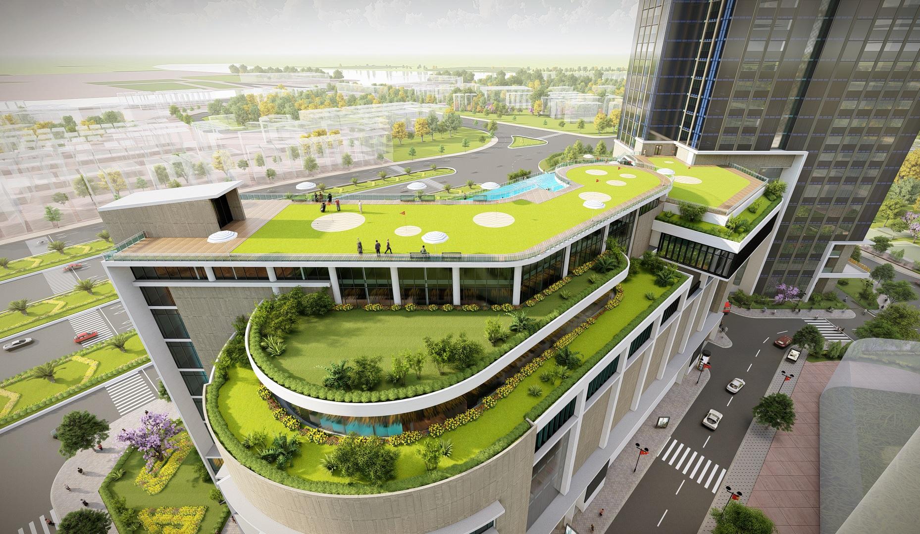 san vuon khach san park hyatt du an ecogreen saigon 1 - Penthouse là gì? Tiêu chí của căn hộ Penthouse